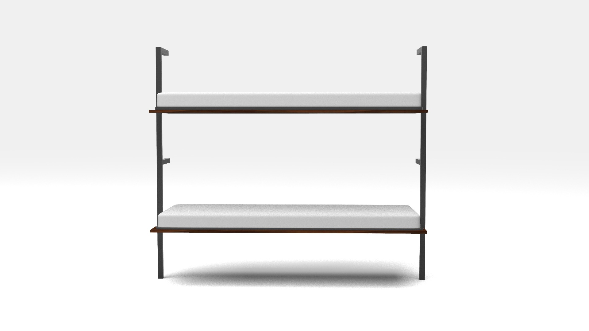 Horizontal Wall Mounted Folding Double Bunk Bed With